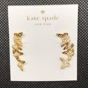 kate spade Jewelry - NEW Kate Spade KS Butterflies Gold Climber Earring